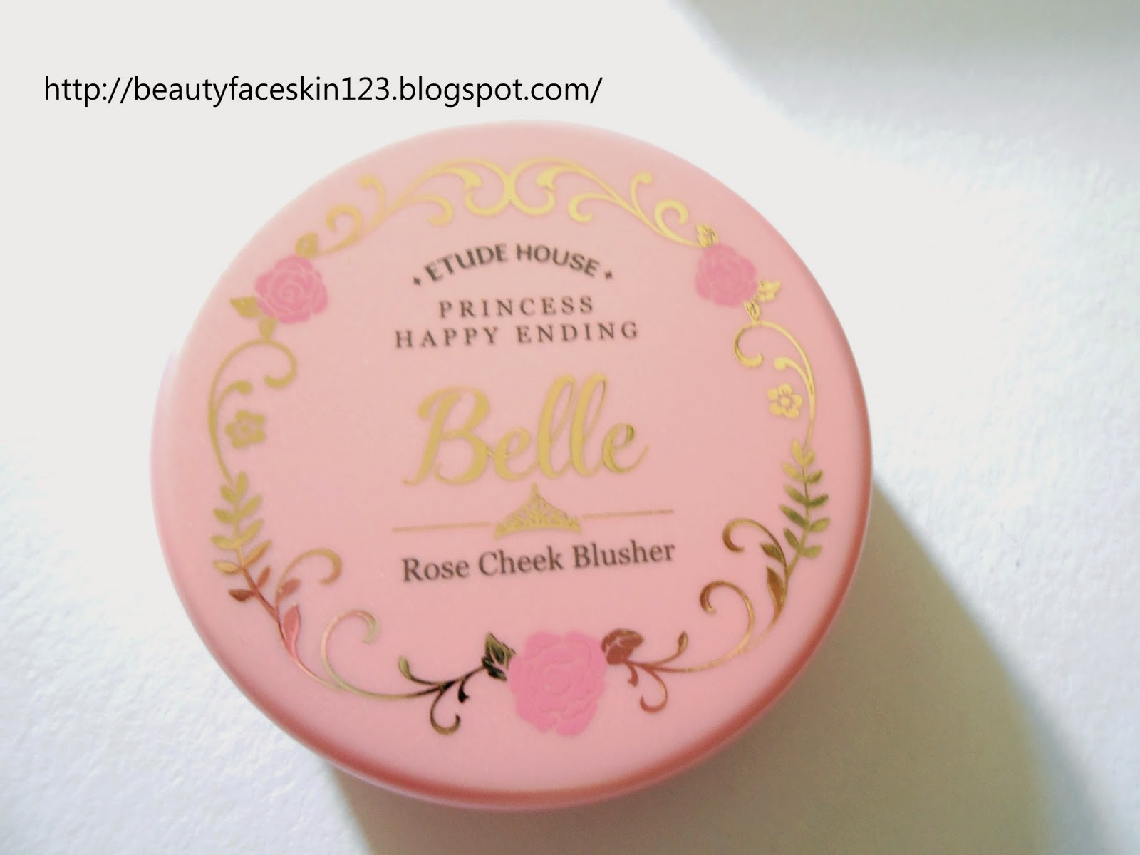 ETUDE HOUSE PRINCESS HAPPY ENDING ROSE CHEEK BLUSHER #1 PINK SHINE ROSE