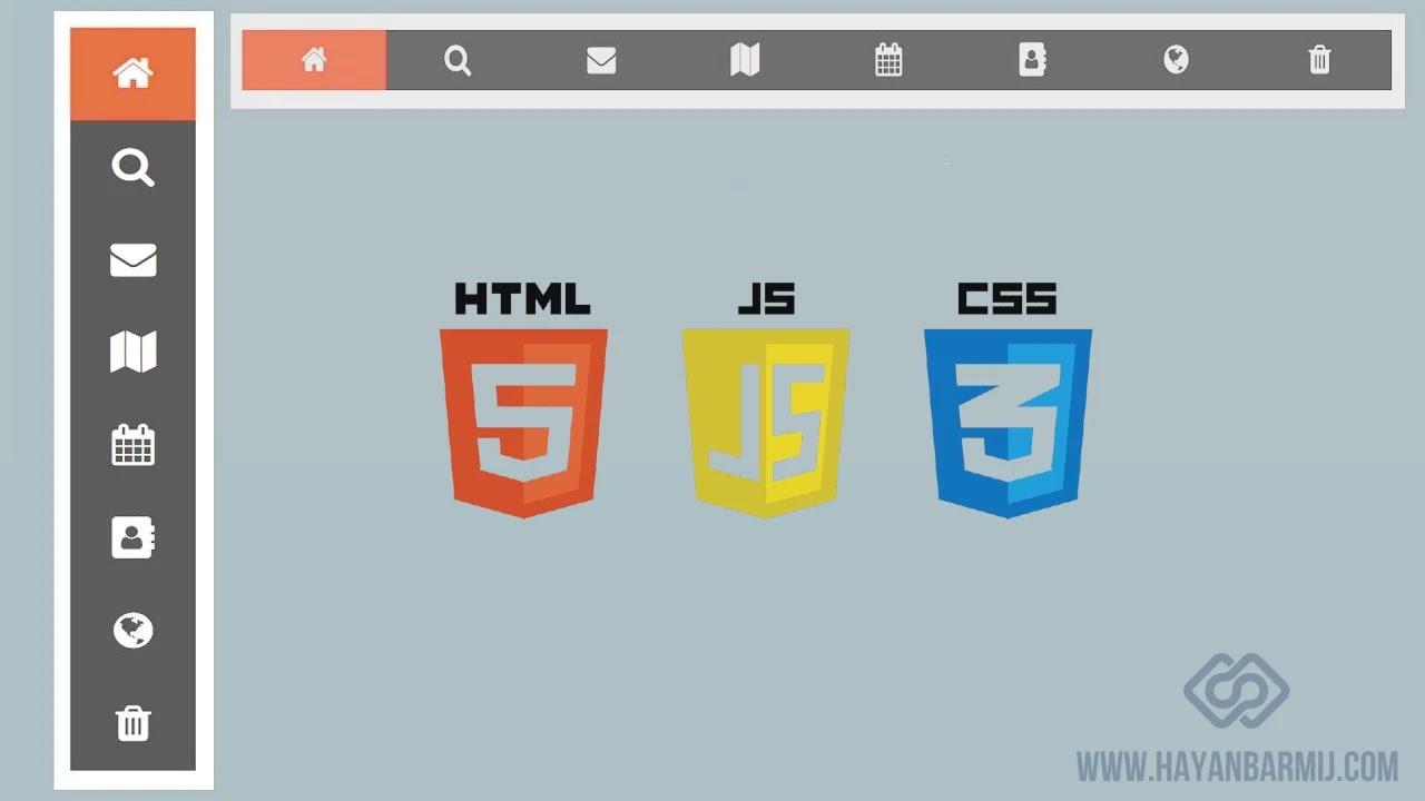 افضل خمس قوائم HTML5 , CSS3 علوية و جانية