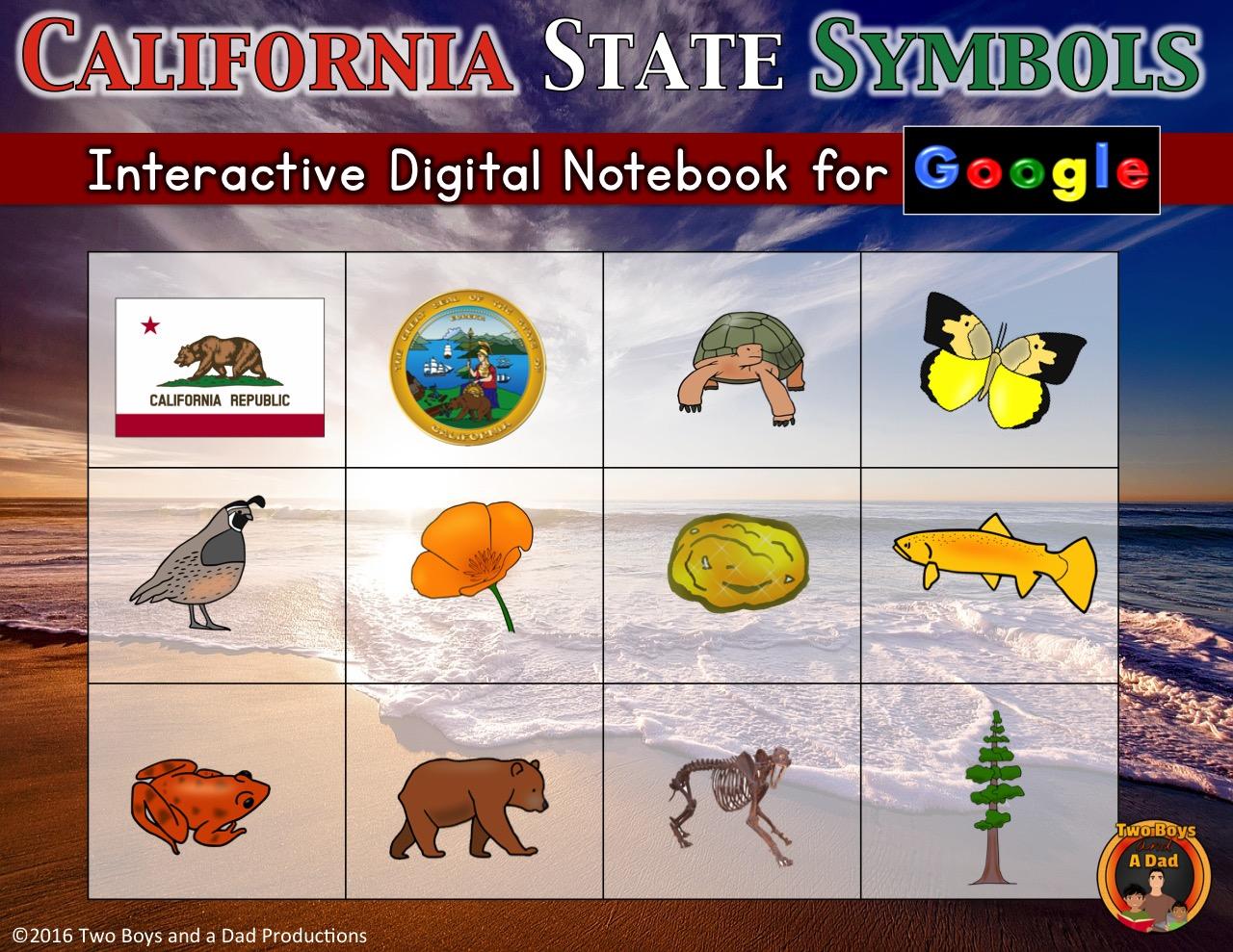 California State Symbols Interactive Digital Notebook