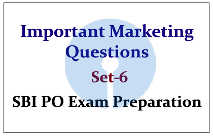 Important Marketing Questions Set-6