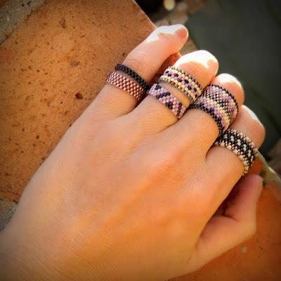 купить украшения из бисера кольца в стиле бохо украшения ручной работы фото