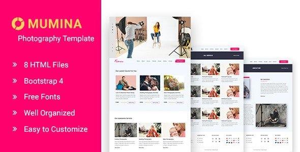 Photography and Portfolio HTML Template