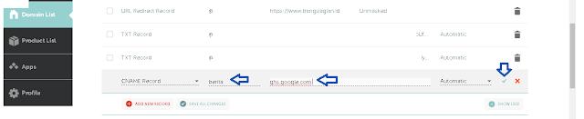 Cara Membuat Subdomain Dengan Domain TLD Di Blogger