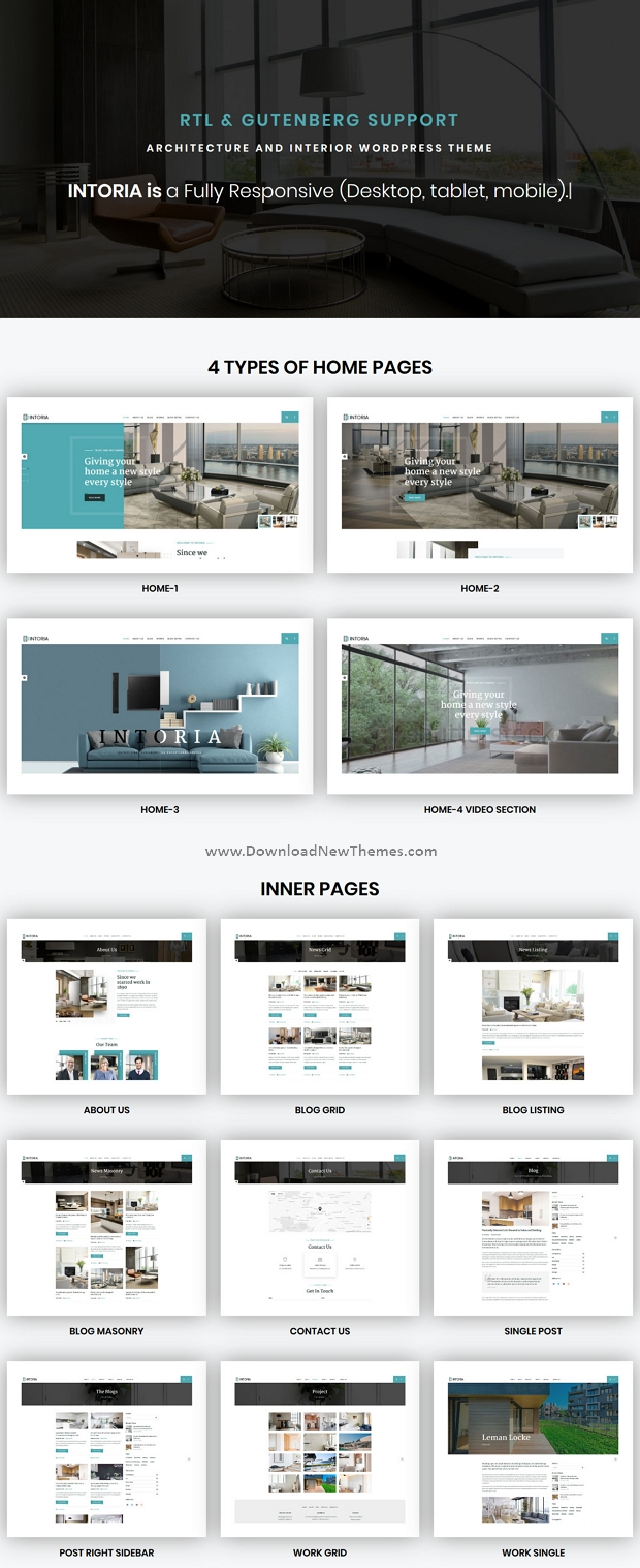 Interior Architecture WordPress Theme