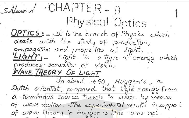 Physics 1st Year Notes Pdf