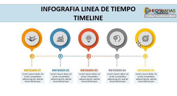 Plantilla para Infografia de línea de tiempo 10