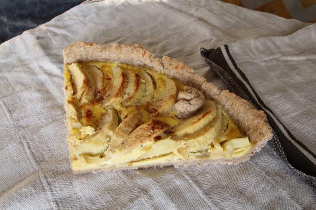 tarte pommes sans sucre healthy cannelle sans beurre