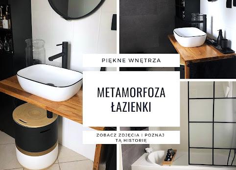 Metamorfoza łazienki - malowanie płytek, beton na ścianach - piękne zdjęcia.
