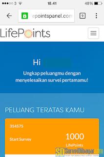 Bisa login ke LifePoints lewat smartphone. | SurveiDibayar.com