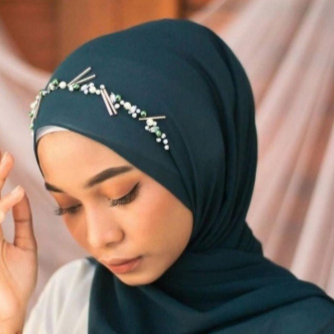Jilbab Hijab Diamond Ceruty BABYDOLL BANDANA Payet Terbaru Grosir