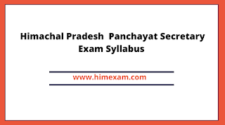 Himachal Pradesh  Panchayat Secretary Exam Syllabus
