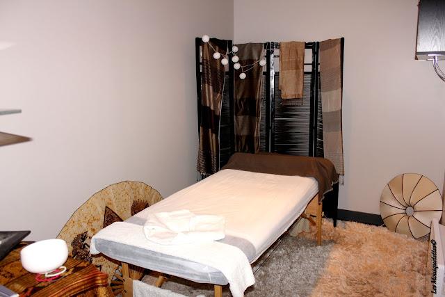 espace dédié aux massages - Origyn - Blog beauté Les Mousquetettes ©