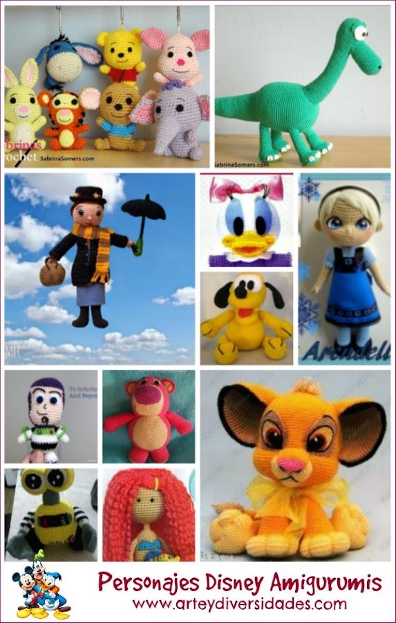 Amigurumi Dibujos Disney : 40 personajes Disney con patron gratis en castellano ...