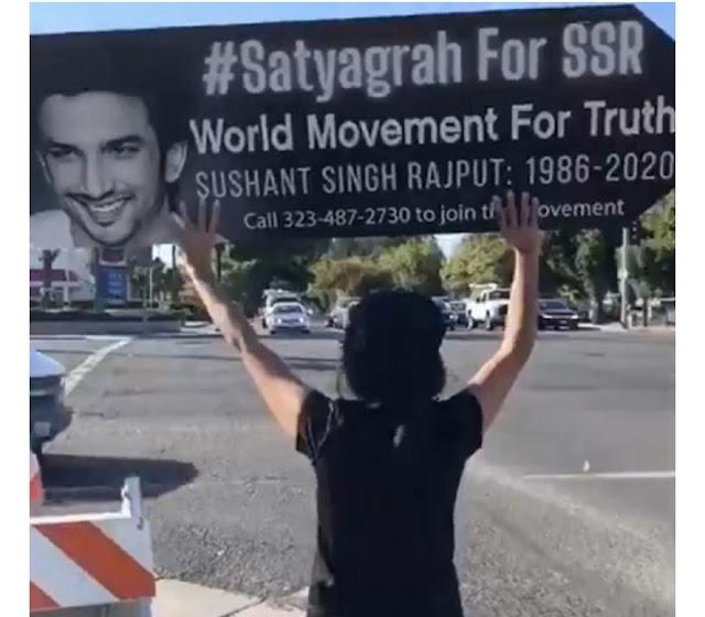 सुशांत सिंह राजपूत की बहन श्वेता ने शेयर किया कि कैसे कैलिफोर्निया में प्रशंसक 'SSR के लिए सत्याग्रह' के माध्यम से सच्चाई की तलाश कर रहे हैं