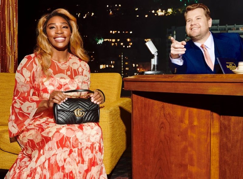 Serena Williams stars in Gucci Beloved Talk Show handbag campaign.