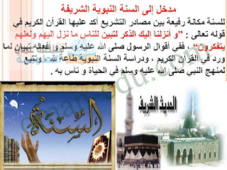 شرح الوحدة الثانية : مدخل إلى السنة النبوية الشريفة - للصف التاسع إسلامية