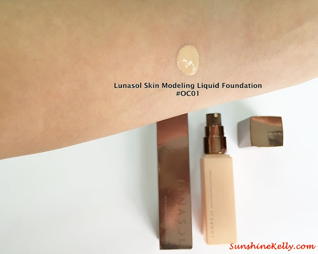 Lunasol Spring 2015, Elegant Purification Makeup, Lunasol, color swatch, Lunasol Skin Modeling Liquid Foundation