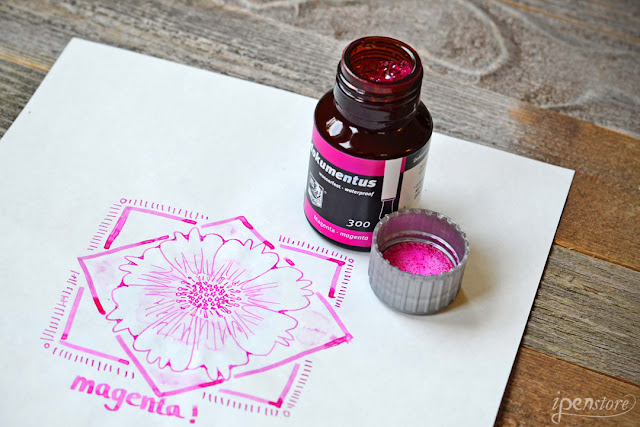 Rohrer & Klingner Dokumentus Waterproof Fountain Pen Ink, 50 ml, Magenta