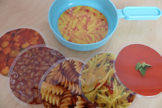 Realistic play food for the toy kitchen