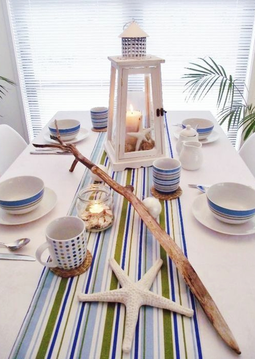 Beach Striped Table Runners
