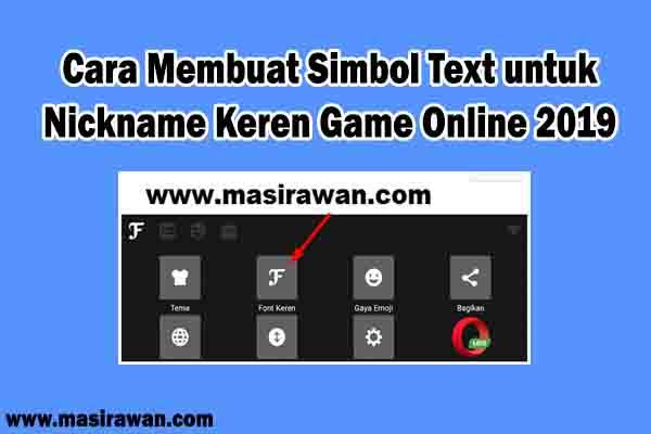√ Cara Membuat Simbol Text untuk Nickname Keren Game Online