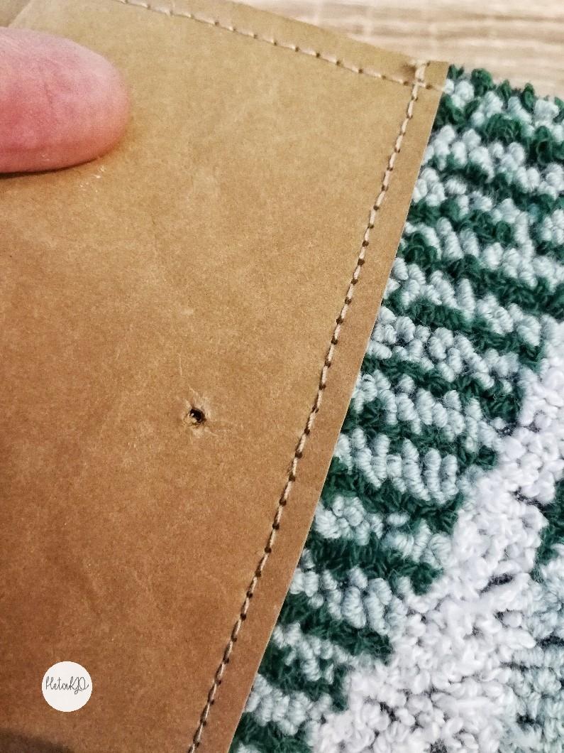 punch needle, läderpapper, vegan leather, veganskt läder, vegaaninen nahka, punkaneula
