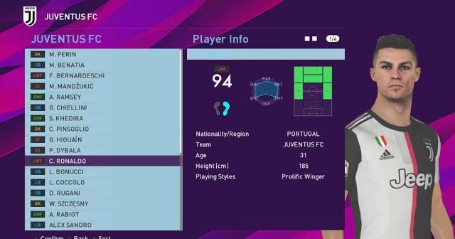 PES 2017 Players Skin Like FIFA 19