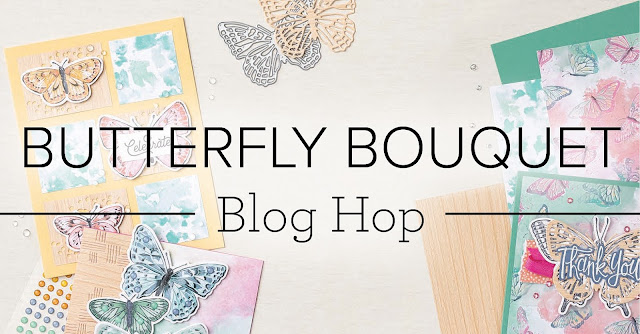 Crafty Collaborations Butterfly Bouquet Blog Hop Banner