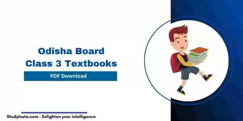 Odisha Board Class 3 Textbooks 2021 [PDF Download]