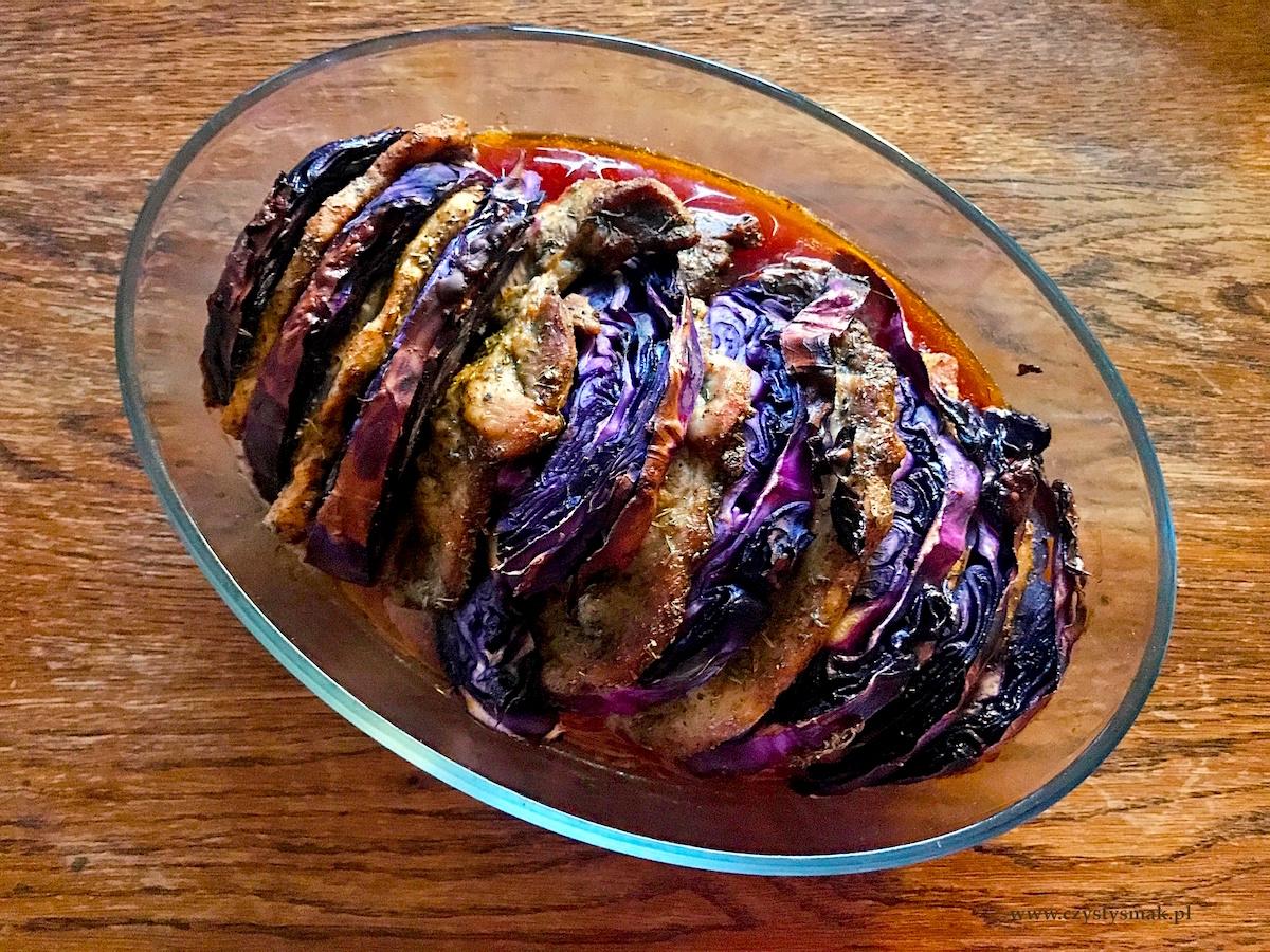 Obiad z piekarnika - mięso z warzywami