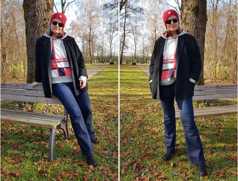 Oversized Sweatshirt und Blazer