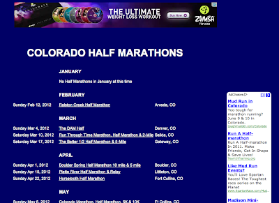 Half Marathon Calendar.Colorado Half Marathons Blog