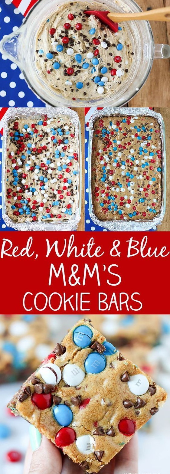 Red, White & Blue M&M'S Cookie Bars