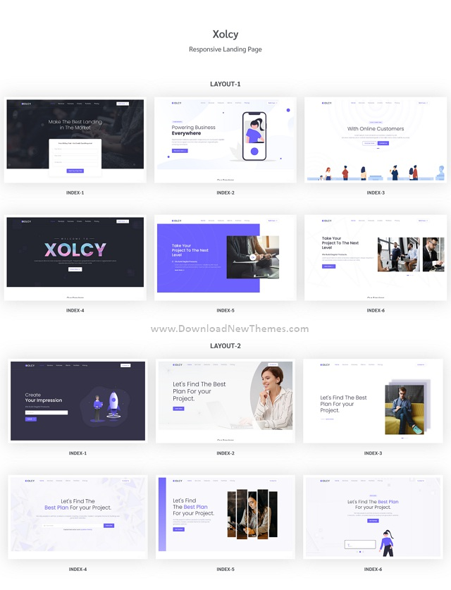 Bootstrap5 Creative Landing Page Template