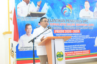 Ketum DPP AJO Indonesia Kukuhkan DPC Ajoi Lingga Berjalan Sukses.