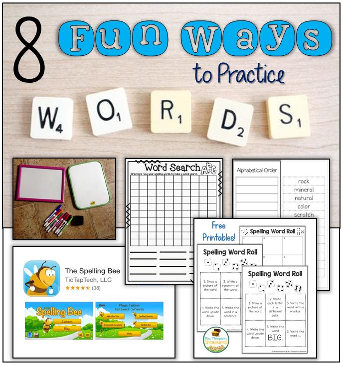 8 Fun Spelling Word Activities (Word Work) - Mrs. Thompson's ...