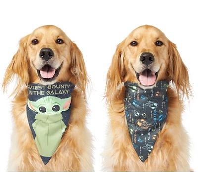 "STAR WARS THE MANDALORIAN'S THE CHILD ""Cutest Bounty"" Reversible Dog & Cat Bandana"