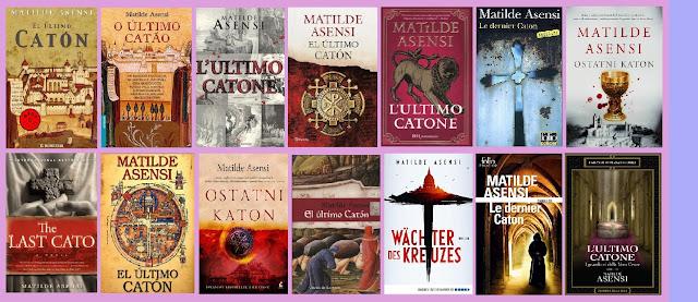 Portadas de la novela de suspense El último catón, de Matilde Asensi