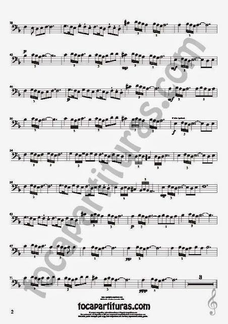 2  Bulería Lenta Partitura de Trombón, Tuba Elicón y Bombardino Sheet Music for Trombone, Tube, Euphonium Music Scores Flamenco