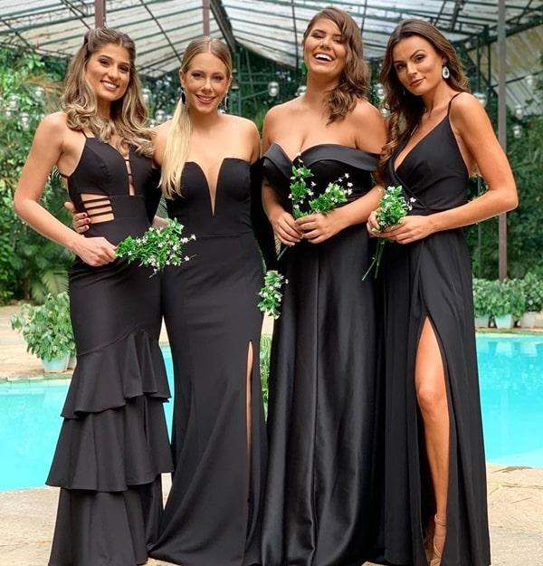 madrinhas de casamento vestido preto