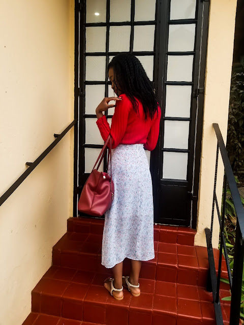 How To Style A Chiffon Midi Skirt Simply