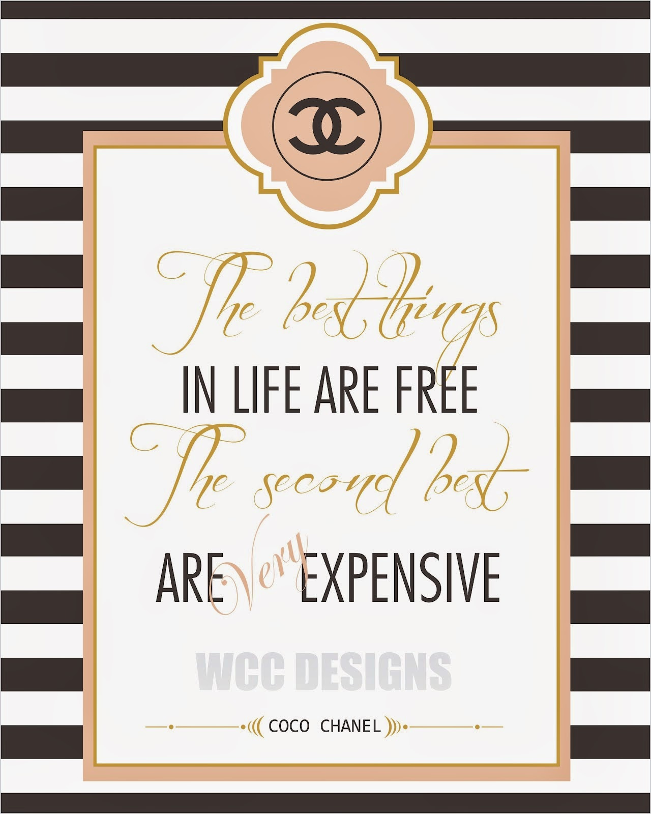 Kit de Chanel para Imprimir Gratis. | Ideas y material gratis para ...