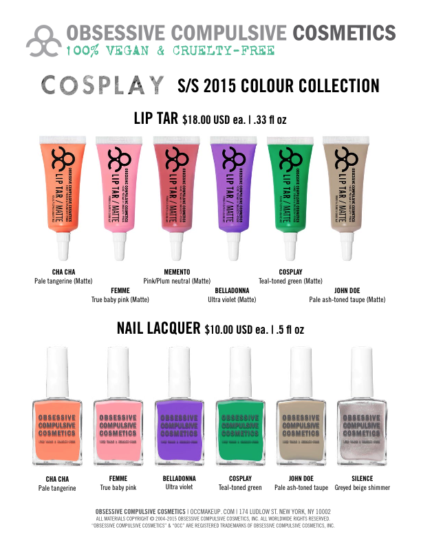 Obsessive Compulsive Cosmetics Cosplay Collection, @girlythingsby_e