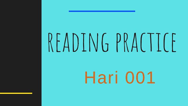 Latihan Pronunciation Bahasa Inggris Hari 01