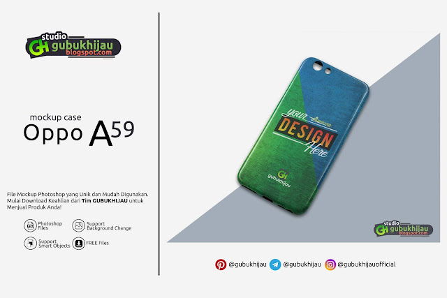 Mockup Custom Case Oppo A59 by gubukhijau