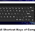 List of All Shortcut Keys of Computer from A to Z