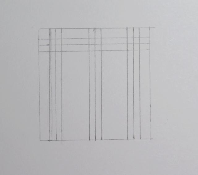 Dibujo de tres líneas equidistantes de las otas tres