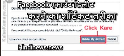 facebook par permanently apan account delete kaise kare