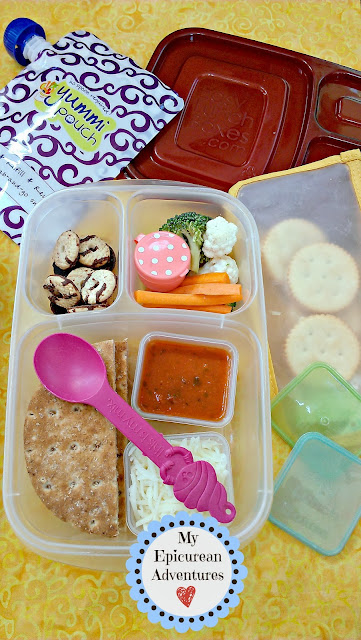 My Epicurean Adventures: Homemade Pizza Lunchables in #easylunchoxes
