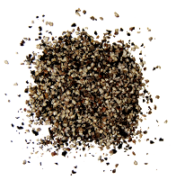corsely ground black pepper